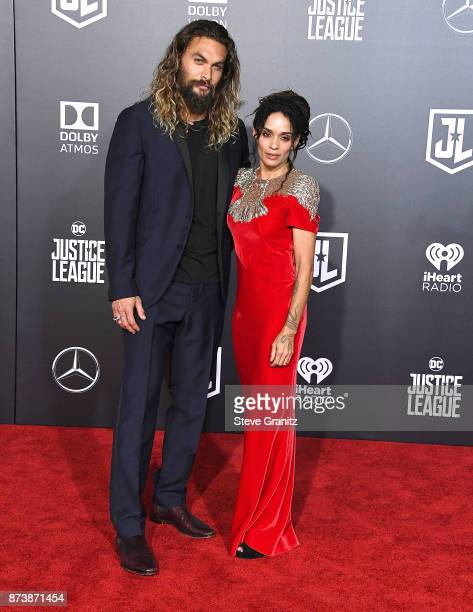 Jason Momoa Lisa Bonet arrives at the Premiere Of Warner Bros Pictures' Justice League at Dolby Theatre on November 13 2017 in Hollywood California
