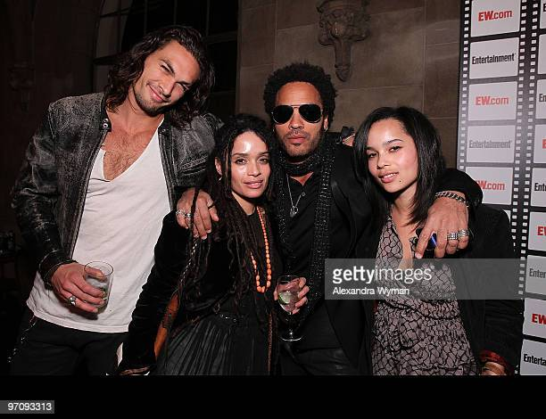 Jason Momoa Lisa Bonet Lenny Kravitz and Zoe Kravitz at Entertainment Weekly's Party to Celebrate the Best Director Oscar Nominees held at Chateau...
