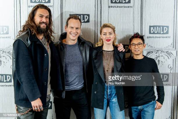 Jason Momoa Patrick Wilson Amber Heard and James Wan discuss 'Aquaman' with the Build Series at Build Studio on December 03 2018 in New York City