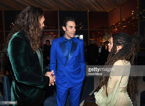 Jason Momoa Sacha Baron Cohen and Lisa Bonet attend The 2020 InStyle And Warner Bros 77th Annual Golden Globe Awards PostParty at The Beverly Hilton...