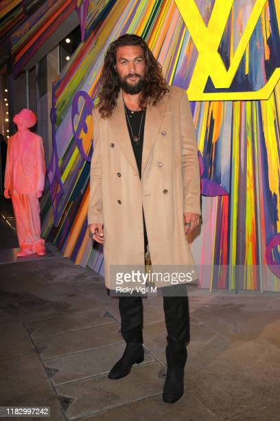 Jason Momoa seen attending Louis Vuitton Maison - store launch party on October 23, 2019 in London, England.