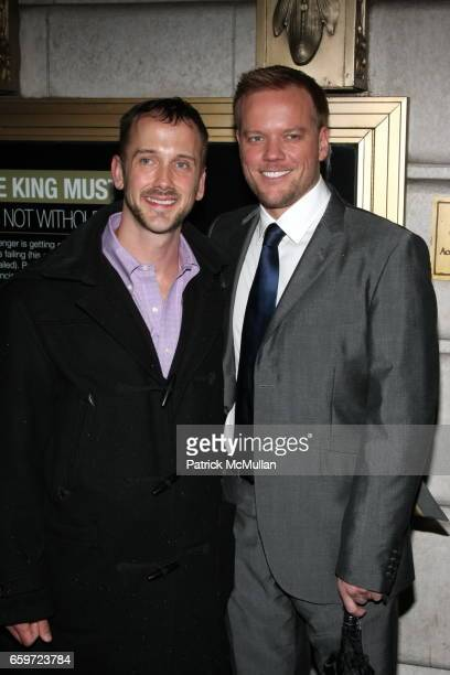 Jason Moore and Jeff Whitty attend Opening Night of EXIT THE KING at The Ethel Barrymore Theatre on March 26 2009 in New York City