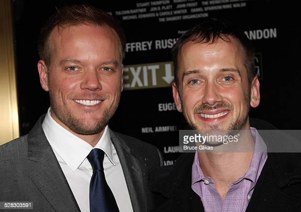 Jason Moore and Jeff Whitty attends the Broadway opening night of Exit The King at the Ethel Barrymore Theatre on March 26 2009 in New York City