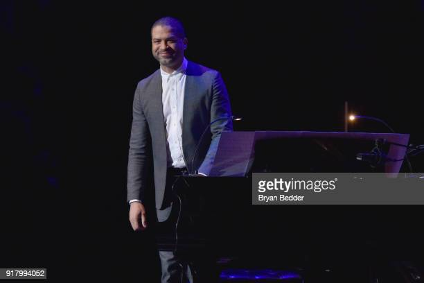 Jason Moran performs onstage at the Winter Gala at Lincoln Center at Alice Tully Hall on February 13 2018 in New York City