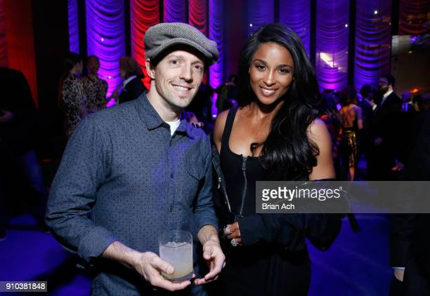 Jason Mraz and Ciara attend the Warner Music Group PreGrammy Party in association with V Magazine on January 25 2018 in New York City