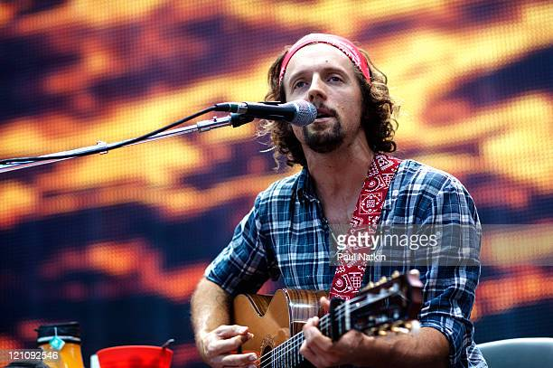 Jason Mraz performs during Farm Aid 2011 at the LiveStrong Sporting Park on August 13 2011 in Kansas City Kansas
