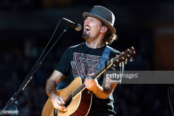 Jason Mraz performs during Z100's Jingle Ball 2012 presented by Aeropostale at Madison Square Garden on December 7, 2012 in New York City.