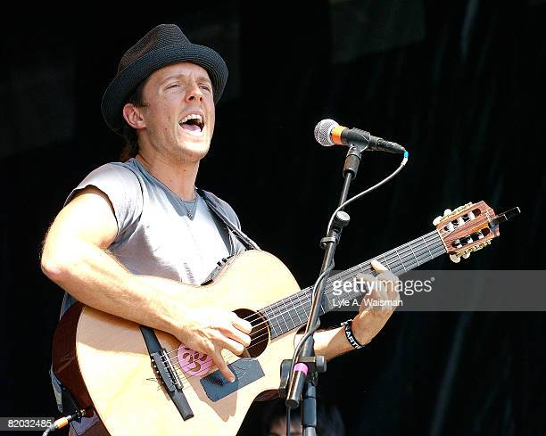 Jason Mraz performs live at the inaugural Mile High Music Festival on July 19 2008 at Dick's Sporting Goods Park in Denver Colorado