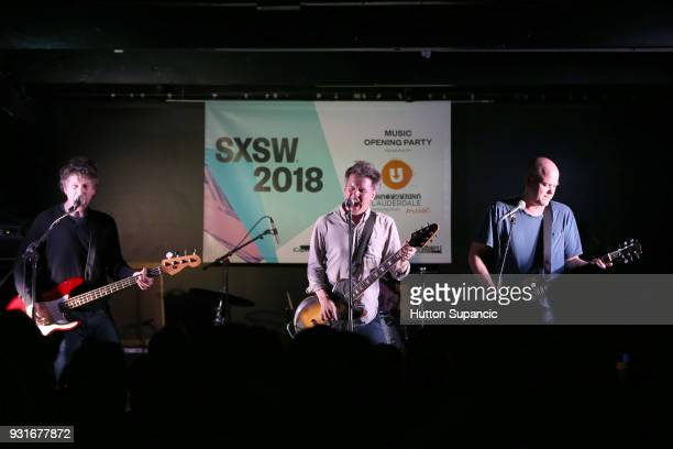 Jason Narducy Mac McCaughan and Jim Wilbur of Superchunk perform onstage at the Music Opening Party during SXSW at The Main on March 13 2018 in...