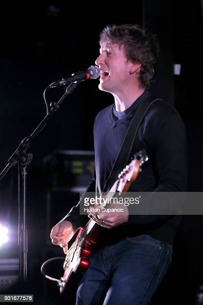 Jason Narducy of Superchunk performs onstage at the Music Opening Party during SXSW at The Main on March 13 2018 in Austin Texas