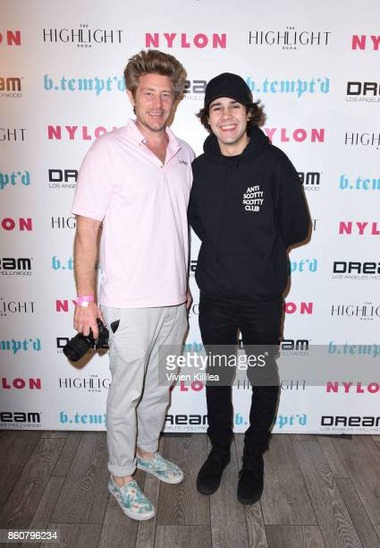 Jason Nash and David Dobrik attend NYLON's It Girl Party At The Highlight Room At Dream Hollywood on October 12 2017 in Hollywood California