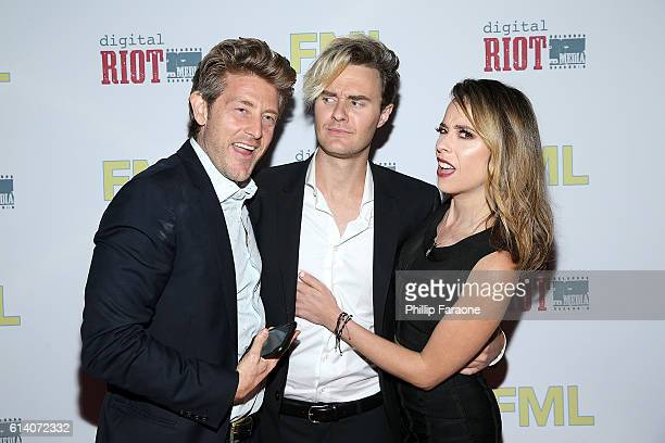 "Jason Nash, Bart Baker, and Shira Lazar attend the premiere of Digital Riot Media's ""FML"" at iPic Theaters on October 11, 2016 in Los Angeles,..."