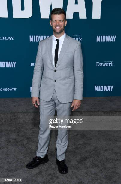 Jason New attends the Premiere Of Lionsgate's Midway at Regency Village Theatre on November 05 2019 in Westwood California