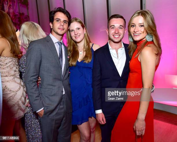 Jason Newman Christina Philipson Austin L Singer and Quincy Morgan attend Mr Morgan's Summer Soiree at The Morgan Library Museum on June 21 2018 in...