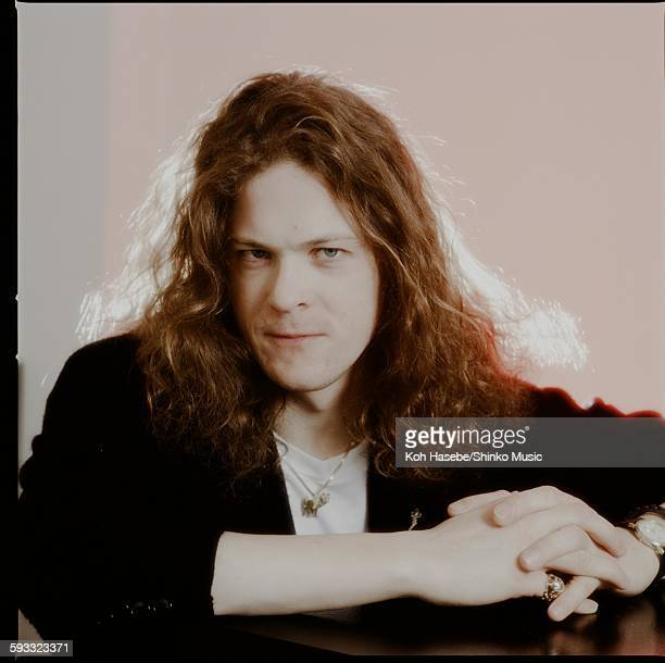 Jason Newsted in a studio photo session Tokyo December 1991