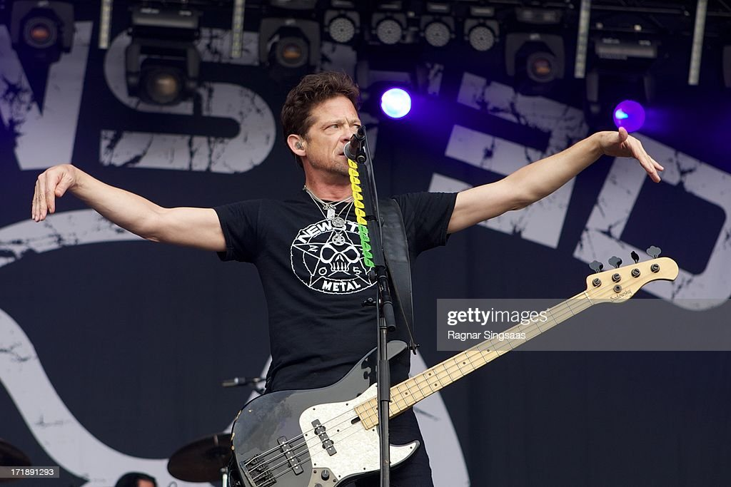 Jason Newsted of Newsted performs on stage on Day 4 of Rock The Beach Festival on June 29, 2013 in Helsinki, Finland.