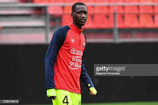 Jason NGOUABI of Caen before the French Ligue 2 soccer match between Valenciennes and Caen on September 26 2020 in Valenciennes France