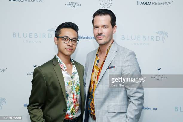 Jason Nguyen and Evan Hungate attend the Bluebird London New York City launch party at Bluebird London on September 5 2018 in New York City
