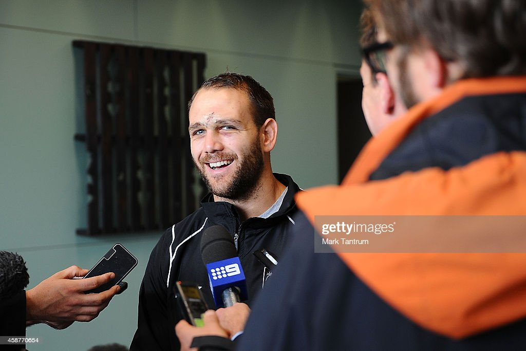 Jason Nightingale during the New Zealand media session at Te Rauparaha Arena on November 11, 2014 in Wellington, New Zealand.