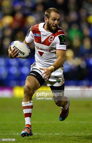 Jason Nightingale of St George Illawarra Dragons in action during the World Club Series match between Warrington Wolves and St George Illawarra...