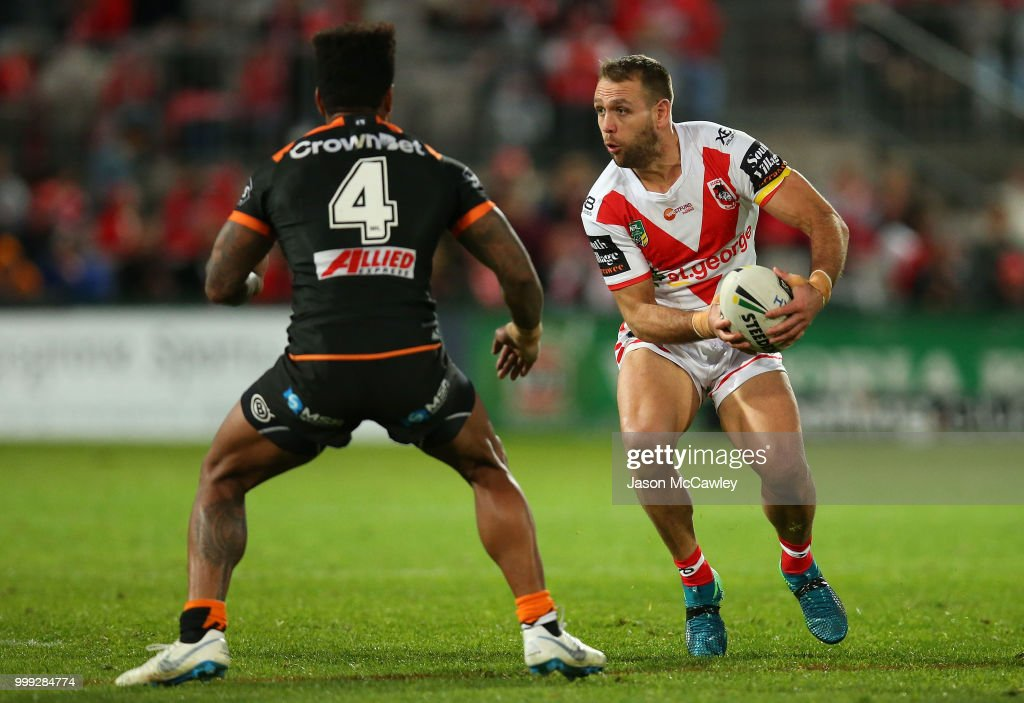NRL Rd 18 - Dragons v Tigers : News Photo