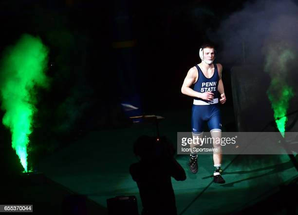 Jason Nolf of Penn State enters for his finals match in the 157pound weight class of the NCAA Wrestling Championships on March 18 at Scottrade Center...