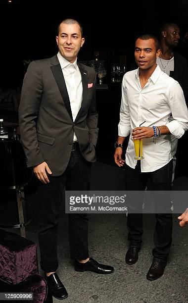Jason Of Beverly Hills and Ashley Cole at the Unveiling of The Gentleman Collection at The Mayfair Hotel on September 21 2011 in London England