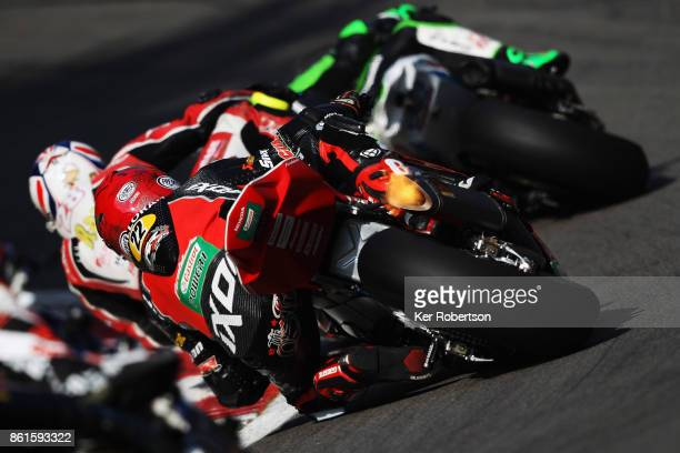 Jason O'Halloran of Honda Racing rides during race two of the British Superbike Championship finale at Brands Hatch on October 15 2017 in Longfield...