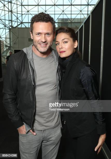 Jason O'Mara and Alexa Davalos attend 'The World of Philip K Dick' The Man in the High Castle and Philip K Dick's Electric Dreams Press Room at The...