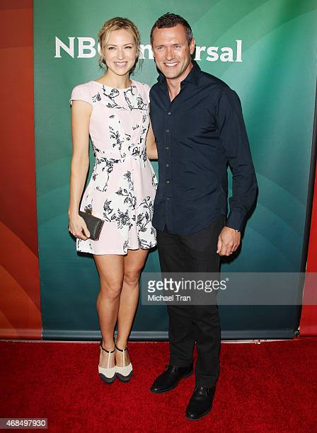 Jason O'Mara and Beth Riesgraf arrive at the 2015 NBCUniversal Summer press day held at The Langham Huntington Hotel and Spa on April 2, 2015 in...