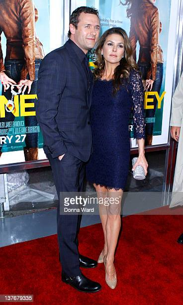 Jason O'Mara and Paige Turco attend the One for the Money premiere at the AMC Loews Lincoln Square on January 24 2012 in New York City