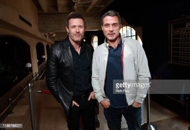 Jason O'Mara and Rufus Sewell in the Heineken Green Room at Vulture Festival Presented By ATT at The Roosevelt Hotel on November 10 2019 in Hollywood...