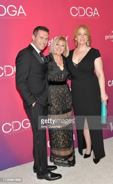 Jason O'Mara Catherine Adair and Chelah Horsdal attend The 21st CDGA at The Beverly Hilton Hotel on February 19 2019 in Beverly Hills California