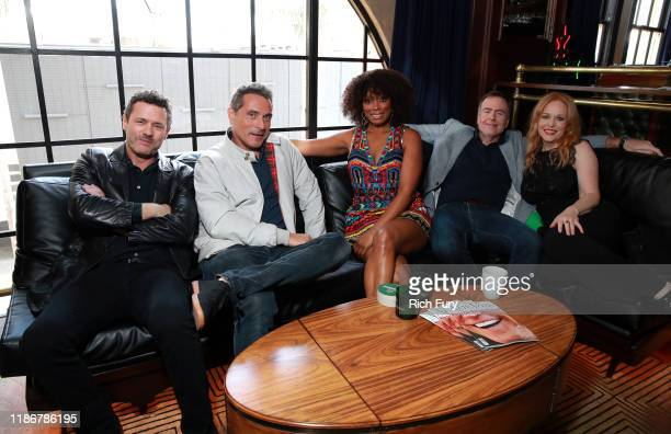 Jason O'Mara Rufus Sewell Frances Turner David Scarpa and Chelah Horsdal in the Heineken Green Room at Vulture Festival Presented By ATT at The...