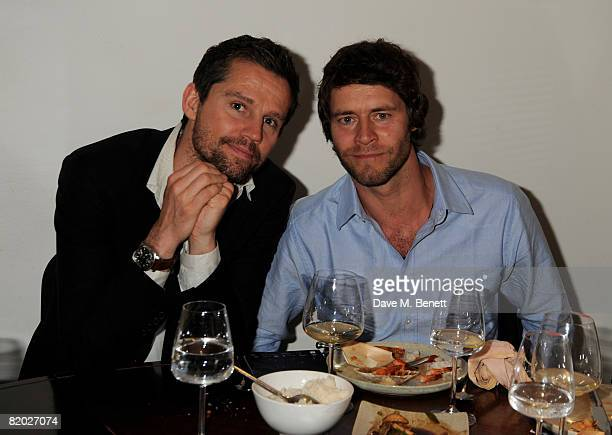 Jason Orange and Howard Donald attend the fundraising event 'An Audience With Beverley Knight' hosted by Amy Lame in aid of Cancer Research UK and...