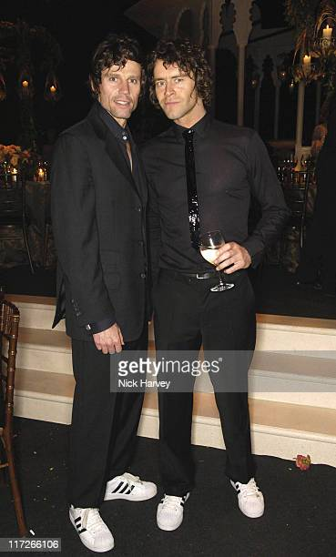 Jason Orange and Howard Donald of Take That during The 8th Annual White Tie and Tiara Ball to Benefit the Elton John AIDS Foundation in Association...