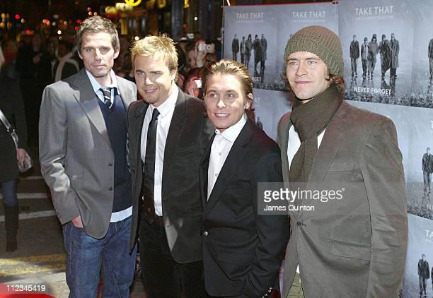 Jason Orange Gary Barlow Mark Owen and Howard Donald