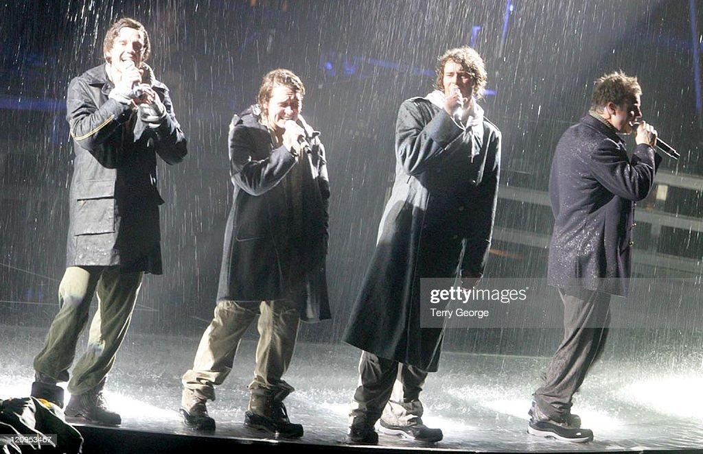 Jason Orange, Mark Owen, Howard Donald and Gary Barlow of Take That
