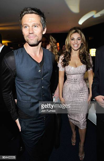 Jason Orange of Take That and Kelly Brook attend the Champagne Reception for GQ Men of the Year awards at The Royal Opera House on September 8 2009...