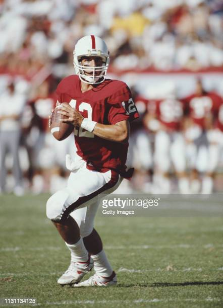 Jason Palumbis, Quarterback for the Stanford Cardinal during the NCAA Pac-10 college football game against the USC Trojans on 13 October 1990 at the...