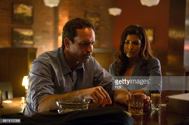 Jason Patric and Nimrat Kaur in the City Upon A Hill episode of WAYWARD PINES airing Wednesday June 29 on FOX