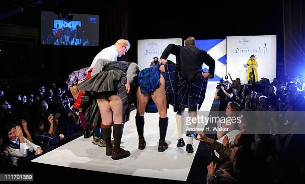 Jason Patrick Brian Cox Jim Gaffigan Chris Noth and Kiefer Sutherland walk the runway at the 9th annual Dressed to Kilt charity fashion show at the...