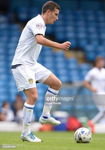 Jason Pearce of Leeds United during a preseason friendly match between Leeds United and Dundee United at Elland Road on August 2 2014 in Leeds England