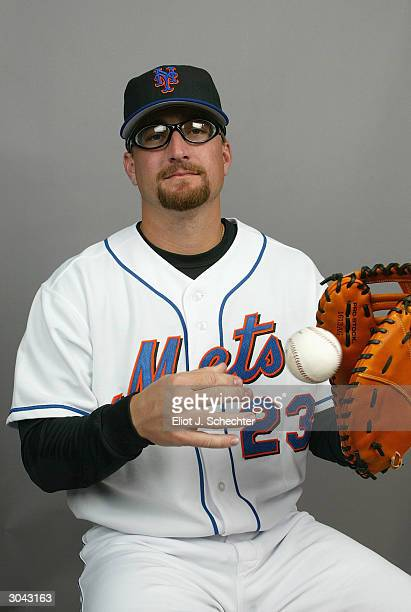 Jason Phillips of the New York Mets during Spring Training photo day February 29, 2004 in Port St. Lucie, Florida.