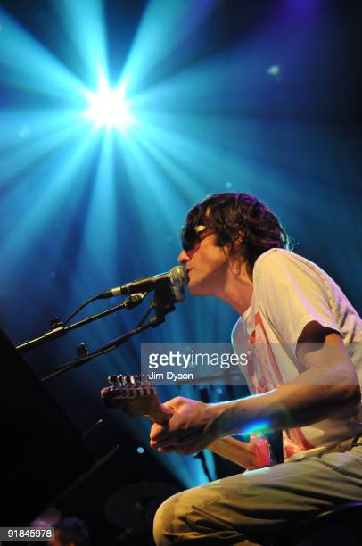 Jason Pierce and Spiritualized perform their classic 1997 album 'Ladies And Gentlemen We Are Floating In Space' at the Royal Festival Hall as part of...
