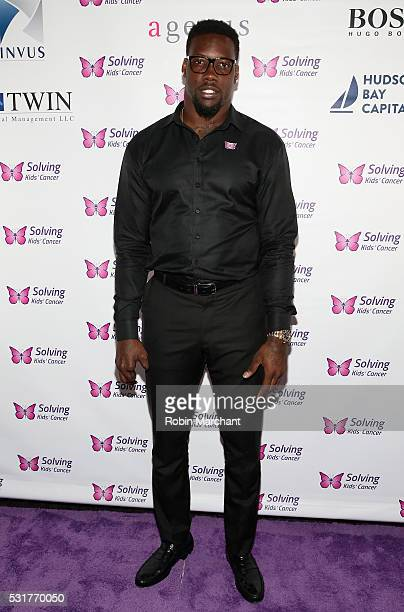 Jason PierrePaul attends 7th Annual Solving Kids' Cancer Spring Celebration on May 16 2016 in New York New York