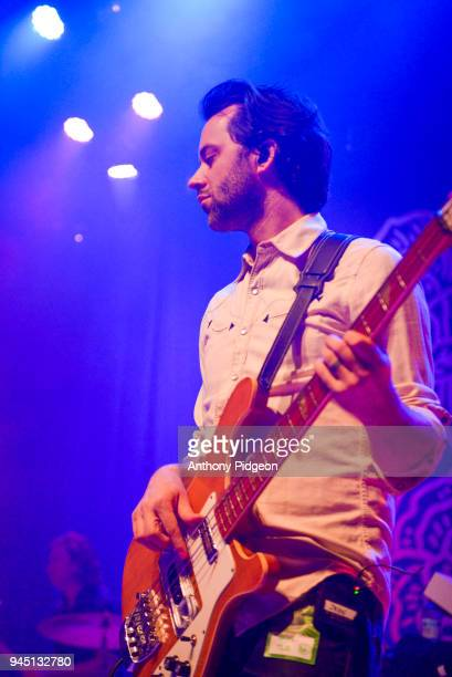Jason Pipkin of The Lone Bellow performs on stage at the Aladdin Theater in Portland Oregon United States on 8th March 2018