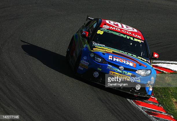 Jason Plato of Great Britain drives the MG KX Momentum Racing MG6 during the Dunlop MSA British Touring Car Championship race at the Brands Hatch...