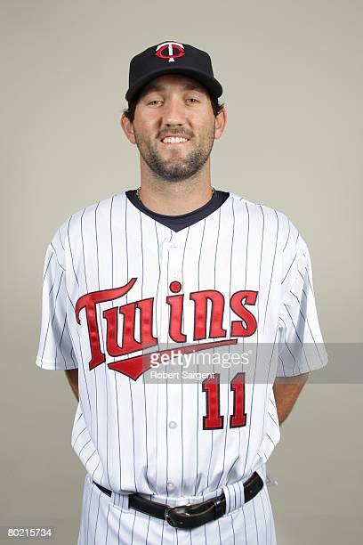 Jason Pridie of the Minnesota Twins poses for a portrait during photo day at Hammond Stadium on February 25 2008 in Ft Myers Florida