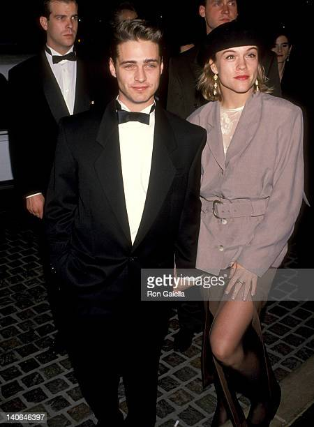 Jason Priestley and Christine Elise at the 50th Annual Golden Globe Awards Beverly Hilton Hotel Beverly Hills